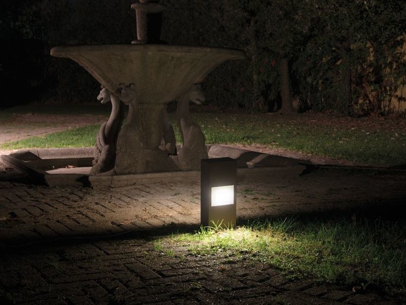 Paletto luminoso a led kit line down post h lombardo
